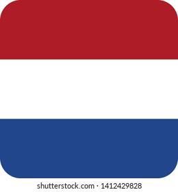 flag of the netherlands europe illustration vector eps