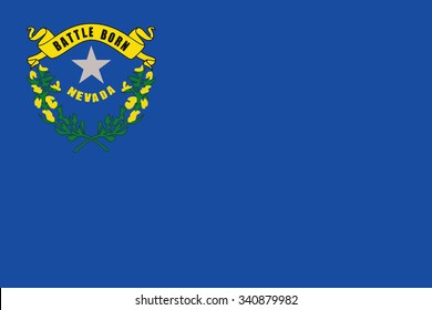 Flag of Nevada state of the United States. Vector illustration.