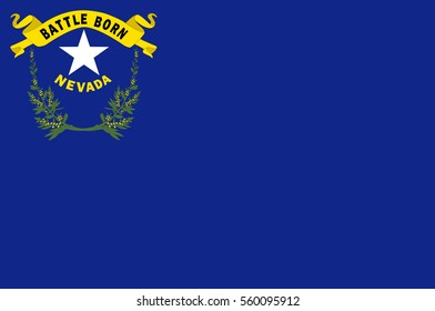 Flag of Nevada state in the Western of United States. Vector illustration