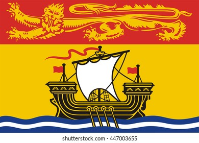 Flag of New Brunswick of Canada