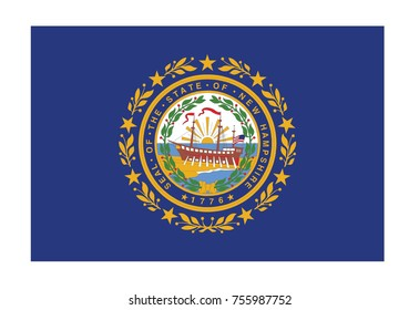 Flag of New Hampshire. Vector illustration.