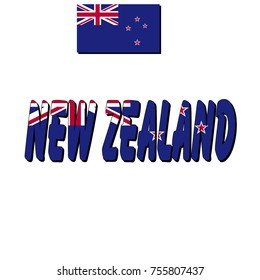 Flag of New Zealand and name of the state of the flag
