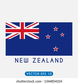 Flag of New Zealand, New Zealand Flag template design. Vector Eps 10