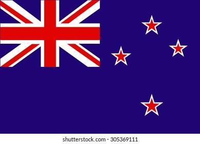 Flag of New Zealand - vector