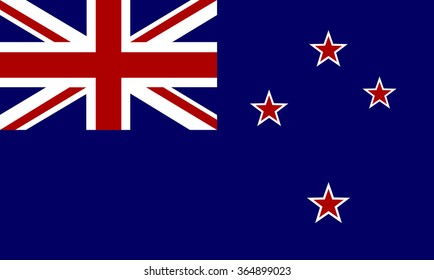 Flag of New Zealand - vector