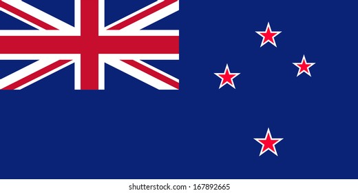 Flag of New Zealand. Vector.  Accurate dimensions, elements proportions and colors.
