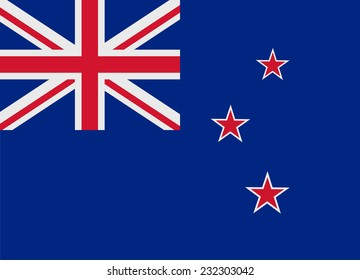 Flag of New Zealand vector illustration