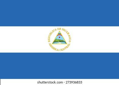 Flag of Nicaragua. Vector illustration.