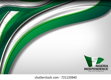 Flag of Nigeria Color Background for Independence Day and other events, Vector Illustration Design