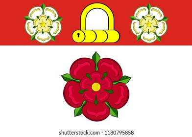 Flag of Northamptonshire is a county in the East Midlands of England. Vector illustration