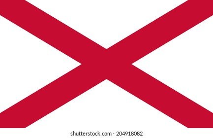 Flag of Northern Ireland. The Saint Patrick's Saltire. Vector. Accurate dimensions, element proportions and colors.