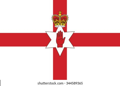 Flag of northern ireland. vector illustration