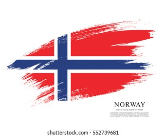Flag of Norway, brush stroke background