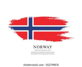 Flag of Norway, brush stroke background