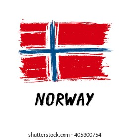 Flag Of Norway - Grunge