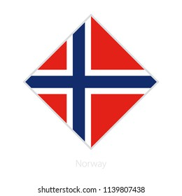 Flag of Norway participant of the Europe football competition. Vector flag.
