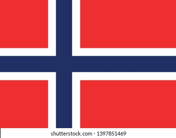 Flag of Norway vector illustration