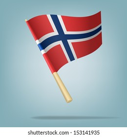 Flag of Norway, Vector illustration