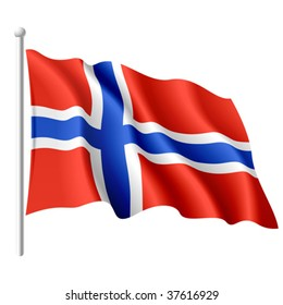 Flag of Norway. Vector illustration.