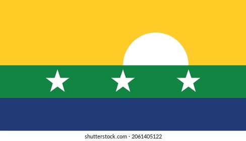 Flag of Nueva Esparta  - Venezuela graphic silhouette vector illustration