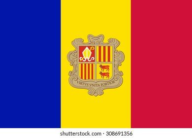 Flag ofAndorra vector illustration