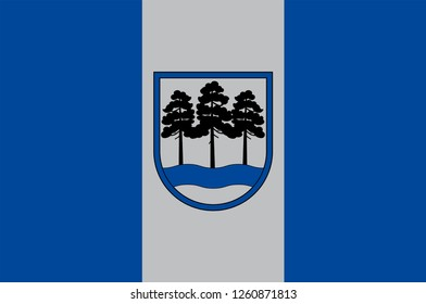 Flag of Ogre Municipality is a municipality in Vidzeme, Latvia. Vector illustration
