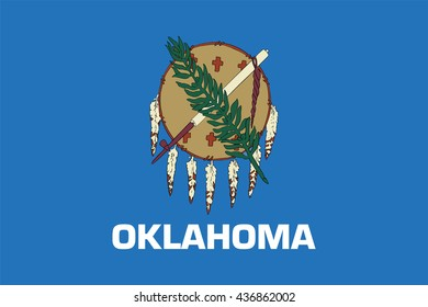 Flag of Oklahoma, state of the United States. Vector illustration.