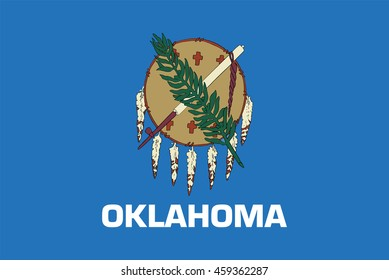 Flag of Oklahoma state of the United States. Vector illustration.