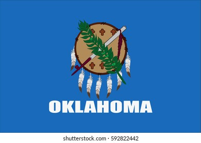 Flag of Oklahoma is a state in United States.Vector illustration