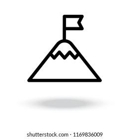 flag on mountain icon.