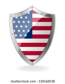 Flag on the shield