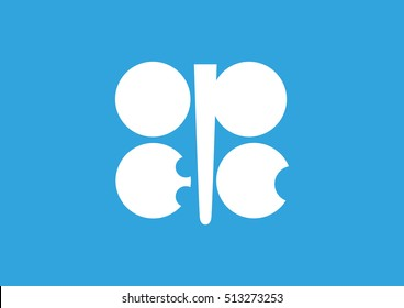 Flag of OPEC. Organization of the Petroleum Exporting Countries