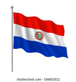 Flag of Paraguay, vector illustration