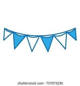 flag party celebration decoration design
