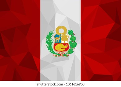 Flag of Peru, correct colors, accurate vector illustration.