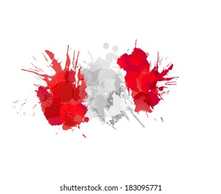Flag of Peru made of colorful splashes