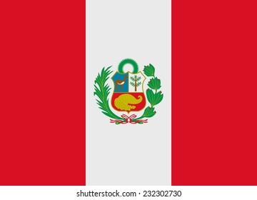 Flag of Peru vector illustration