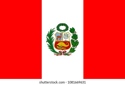 Flag of Peru vector image