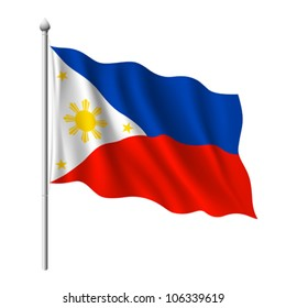 Flag of Philippines, vector illustration