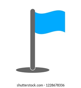 Flag pointer sign icon. Location marker button