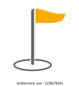 Flag pointer sign icon. Location marker symbol