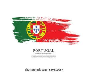 Flag of Portugal, brush stroke background