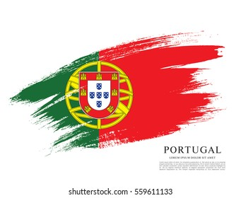 Flag of Portugal, brush stroke background