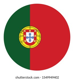 Flag of portugal Flag Isolated Vector Icon which can easily modify or edit