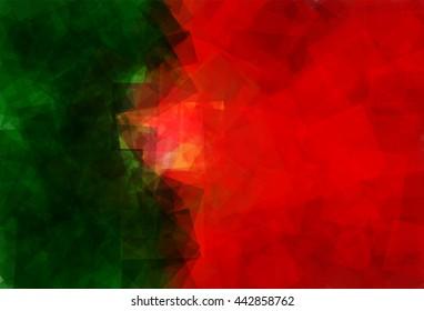 Flag of Portugal (Portuguese Republic) in Vector Square Design
