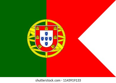 Flag of Portugal. Symbol of Independence Day, souvenir soccer game banner, language button , icon.