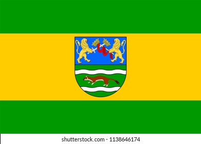 Flag of Pozega-Slavonia County is a Croatian county in western Slavonia. Vector illustration