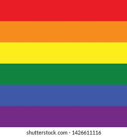 Flag, Pride Month, Same Sex, LGBTQ, Lesbian, Homosexual, Gay Couple modern simple vector icon, symbol