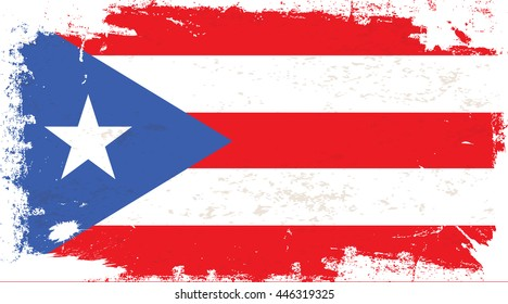 Flag of Puerto Rico in the ancient.