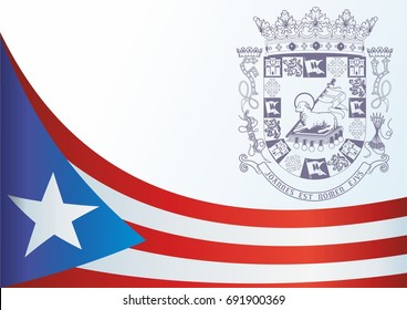Flag of Puerto Rico, Commonwealth of Puerto Rico, template for the award, an official document with the flag and the symbol of Puerto Rico